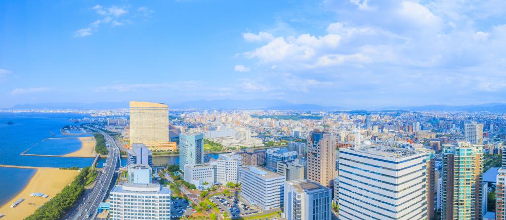 福岡の街並みの画像